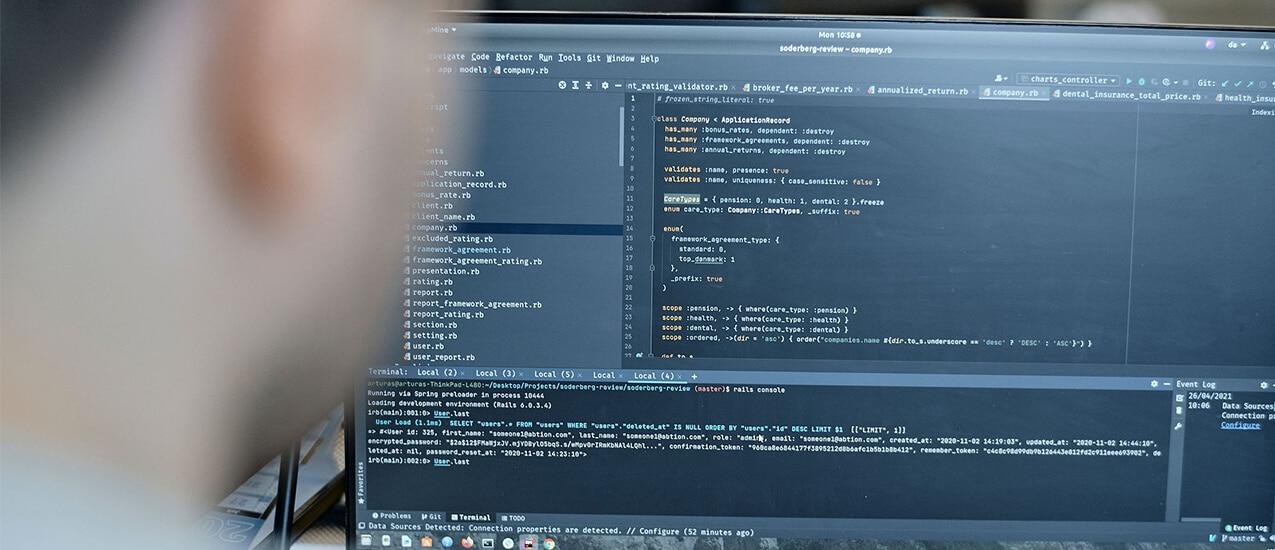 Softwareudvikling i Ruby on Rails